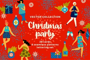Christmas Party! Vector collection.