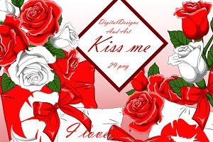 Kiss me clipart