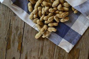 Peanuts on a tablecloth