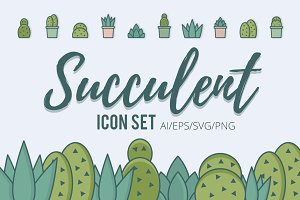 Succulent Icon Set
