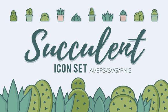 Succulent Icon Set