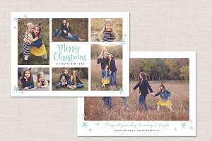 Christmas Card Template CC118