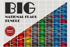 Vector National Flags bundle