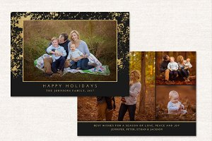 Happy Holidays Card Template CC125