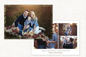 Christmas Card Template BelieveCC126