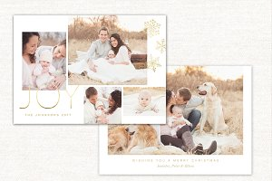 Christmas Card Template Joy CC133