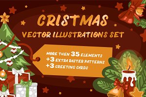 Big Christmas vector elements pack