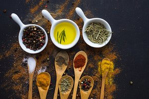 Spices in a food concept