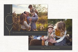 Christmas Card Template Joy CC134