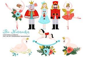 Nutcracker Clipart, Christmas Ballet