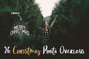 Christmas Holidays Photo Overlays