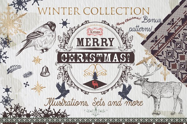 Winter Christmas collection