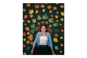 Creative autumn concept