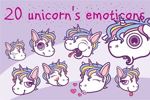 Unicorn's emoticons