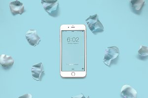 Floral Rose Petal iPhone 7 Mockup