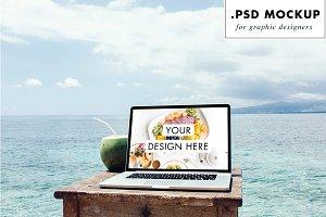 Sea website mockup for freelance