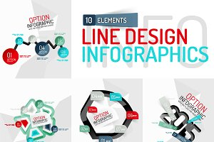 Set of 10 modern infographics
