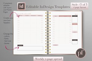 Weekly Calendar | InDesign Template