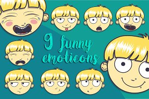 9 funny emoticons
