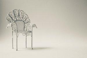 Vintage steel chair