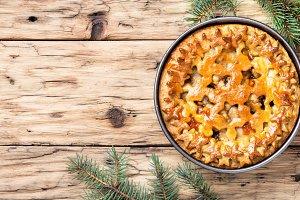 Christmas home pie