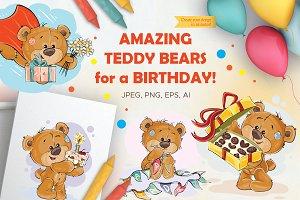 Lovely teddy bears. Happy Birthday!