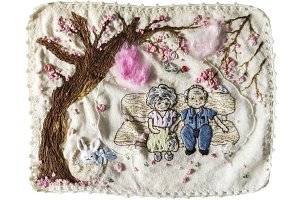 Embroidery old couple