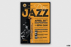 Jazz Day Flyer Template V1