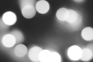Black and white unfocused lights background