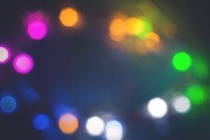 Unfocused Colorful festive lights background