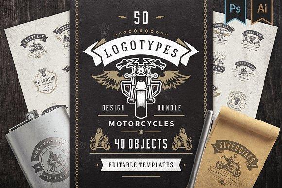50 Motorcycles Logos and Badges