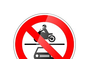 Cars and motorcycle not allowed