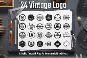 24 Vintage Logo Vol.1