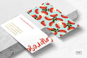 Caprese Food Business Card Template