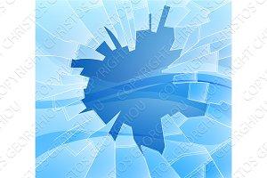 Broken glass illustration
