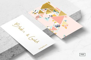 Gold Abstraction Business Card