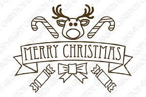 Merry Christmas Greetings Design