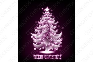 Magical Merry Christmas Tree Design