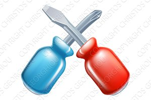 Screwdrivers crossed tools icon