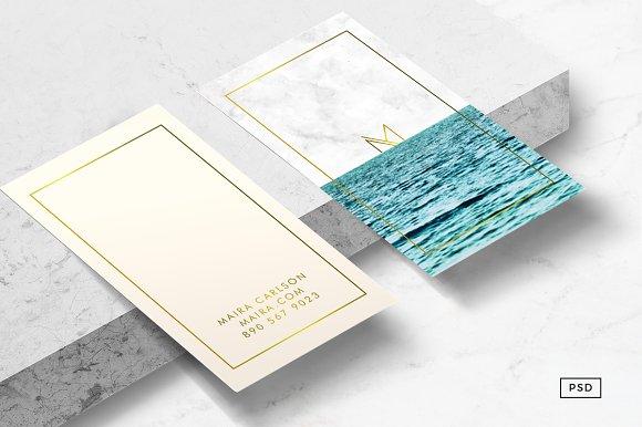 ocean business card template business card templates creative market