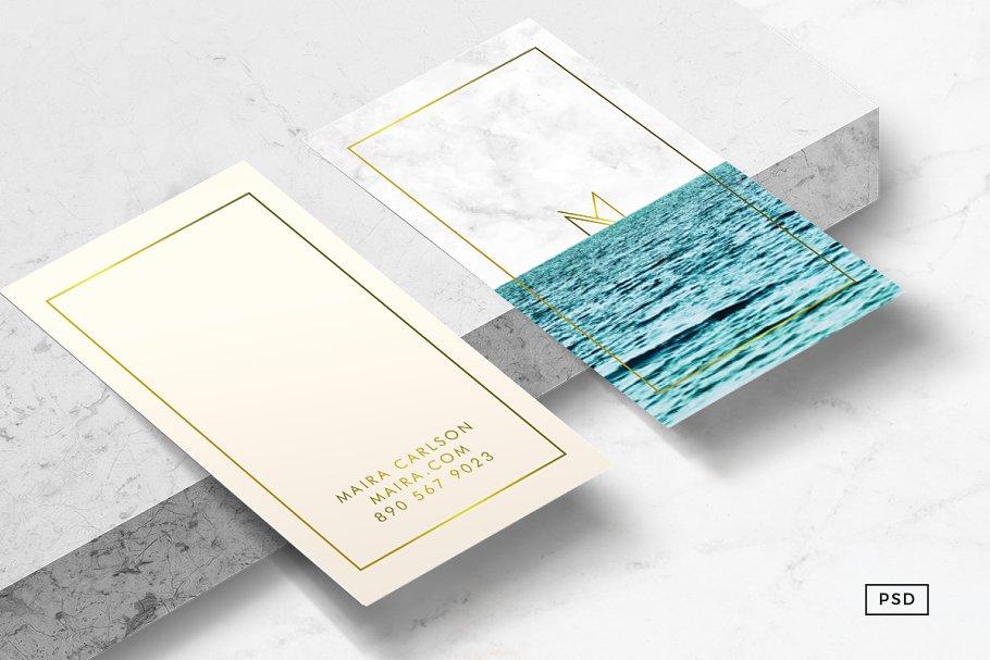 Ocean Business Card Template Templates Creative Market