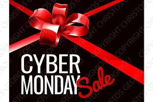 Cyber Monday Sale Sign