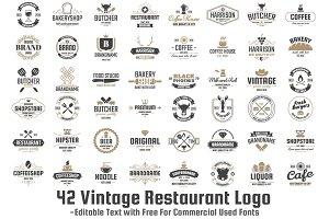 42 Vintage Restaurant Logo Vol-1