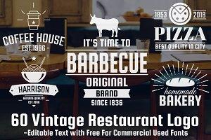 60 Vintage Restaurant Logo Vol-2
