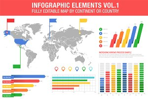 Colorful Infographics Set
