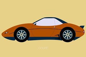coupe car illustration side view