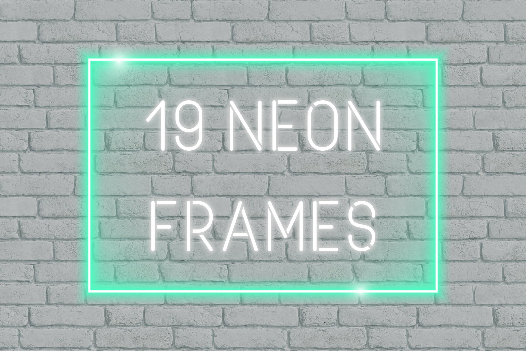 2d8c893478b 19 Vector Neon Frames Graphic Objects Creative Market