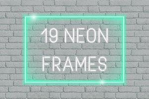 19 Vector Neon Frames