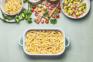Pasta casserole cooking preparation