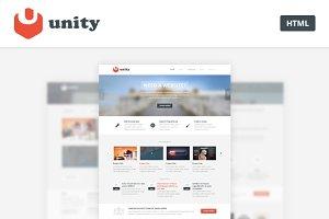 Unity - Multipurpose HTML Template